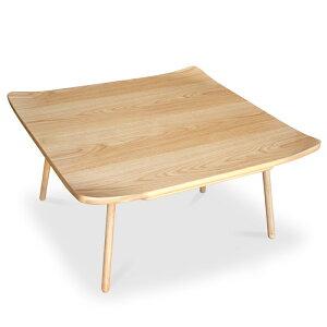 在庫限りダックテール 80 ナラはね上がり3D天板こたつテーブル センターテーブル こたつ 炬燵座卓 和モダン ちゃぶ台 ローテーブル北欧 ミッドセンチュリー おしゃれ 幅80cm コタツこたつ布