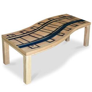 ツヅラ せんろ 150 変形天板こたつテーブル オリジナルデザイン 家具調 こたつ 炬燵座卓 和モダン ローテーブル北欧 ミッドセンチュリー ポップ おしゃれ こたつ 幅150cm 長方形 こたつ布団