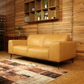 商品名|REBON レボン 総本革張り ソファカラー| ヌメ革色主素材| 本革 レザー ウレタンフォーム 木フレームSバネとウェービングベルトのダブルクッション構造北欧 sofa 2人掛け 3人掛け SOFAシンプル