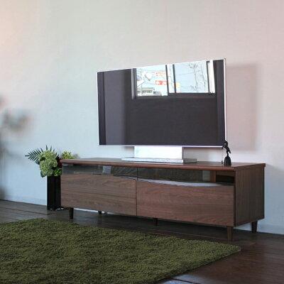 商品名 ESLテレビ台160cmテレビボードローボード北欧完成品カラー ブラウン色ウォールナットサイズ 幅160奥44.5高さ48.25cm生産国 国産日本製シンプル北欧ローボード収納付き国産テレビ台160センチ