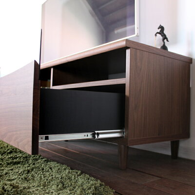 商品名|ESLテレビ台130cmテレビボードローボード北欧完成品カラー|ブラウン色ウォールナットサイズ|幅130奥44.5高さ48.25cm生産国|国産日本製シンプル北欧ローボード収納付き国産テレビ台130センチ