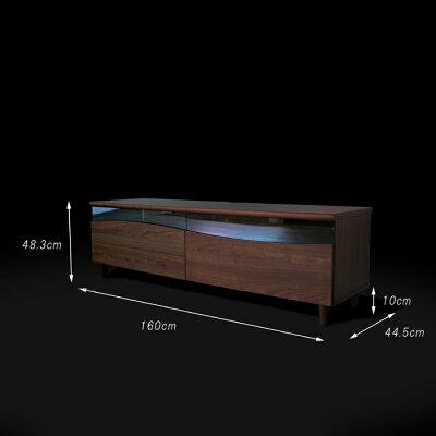 商品名 ESL-Rテレビ台160cmテレビボードローボード北欧完成品カラー ブラウン色ウォールナットサイズ 幅160奥44.5高さ48.25cm生産国 国産日本製シンプル北欧ローボード収納付き国産テレビ台160センチ