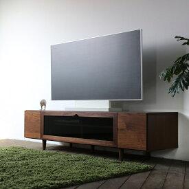 QD テレビ台 160cm テレビボード ローボード ロータイプブラウン ウォールナット幅 160 奥行46 高さ40cm国産 日本製 完成品無垢材 天然木シート北欧ローボード 収納付きテレビ台
