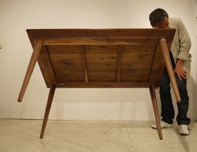 ・ogフットダイニングテーブル160・北欧ミッドセンチュリーモダンデザイン・オーガニックレトロモダンスタイル・ウォールナット無垢ダイニングテーブル・木製テーブル、食卓