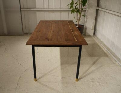 ・og・ビボダイニングテーブル190・北欧ミッドセンチュリーモダンデザイン・オーガニックレトロモダンスタイル・ウォールナット無垢ダイニングテーブル・木製テーブル食卓