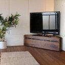 CON コーナー TVボード ローボード テレビボードミッドセンチュリーモダン ウォールナット幅120 奥行42 高さ35 cm北欧 収納付き コーナーラック TVボード120cm おしゃれ シンプル