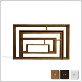 ・SHOJI - セット・オケージョナルテーブル (スモール)・スモールコンソール・ラージコンソール・デザイナーズ ブランド品・シンプルで北欧モダンなグッドデザイン・シェルフ、収納棚、テーブル・送料無料