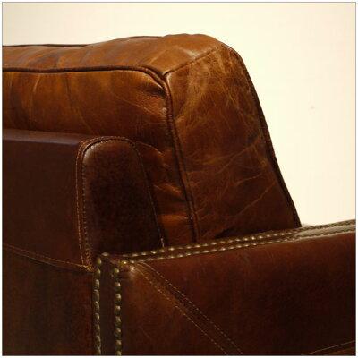 4月入荷予定・VintageLeatherSofa-07・3人掛け3Pソファー・アンティークモダンデザイン・鋲飾りヴィンテージレザー・革レザー本皮張り椅子