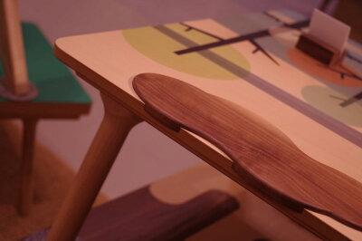 ・ヒーター付きおそらのこたつ・北欧ナチュラルミッドセンチュリーモダンデザイン・座卓ちゃぶ台センターテーブルローテーブル・長方形イラスト天板
