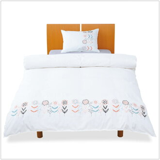 -Cute flower embroidery pattern quilt cups which Scandinavian casual design and floral shades duvet covers