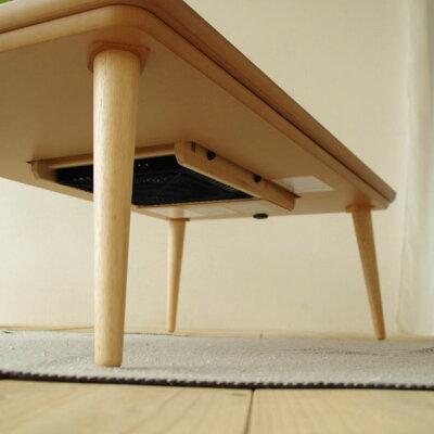 ・ヒーター付きこたつminonmini120長方形・かわいいデザインの天板・北欧テイストのジャパニーズモダンデザイン・日本製のこたつ・特許申請中特願2013−100036