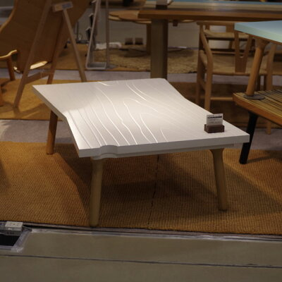 ・訳ありtakatatsu2015新製品サンプル品限定1台・ヒーター付きギボクのテーブルホワイト・かわいいデザインの天板・北欧テイストのジャパニーズモダンデザイン・日本製のこたつ・白いこたつ