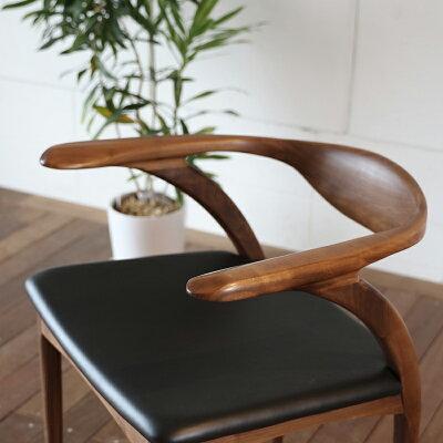 ・og・ペンギンチェアー(レザー)・北欧ミッドセンチュリーモダンデザイン・オーガニックレトロモダンスタイル・ナチュラルダイニングチェアー・木製椅子、イス、いす
