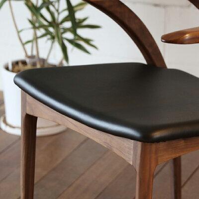 ・og・ペンギンチェアー(レザー)・北欧ミッドセンチュリーモダンデザイン・オーガニックレトロモダンスタイル・ダイニングチェアー・木製椅子、イス、いす