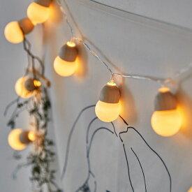 [20球]どんぐりガーランド照明 フェアリーライト 間接照明 照明 インテリアライト ディスプレイ フロアライト ムードライト テーブルライト ハロウィン クリスマス ガーランド