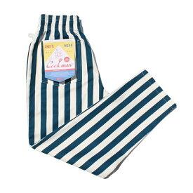 クックマン COOKMAN シェフパンツ ワイドストライプ ネイビー Chef Pants Wide Stripe Navy 231-83833 ストリート アメカジ ブランド メンズ 送料無料