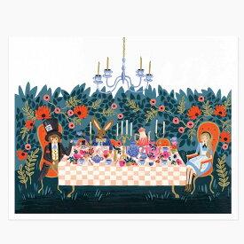 アートプリント 【Lサイズ】【Alice in wonderland】【アリスインワンダーランド】ポスター 不思議の国のアリス 北欧 インテリア カフェ フロリダ フレーム riflepaper annna bond