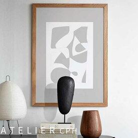 ATELIER CPH ポスター 北欧 70x50cm アトリエシーピーエイチ デンマーク コペンハーゲン no.28 object blanc The poster club モダン シンプル カフェ モノクロ アートプリント おしゃれ インテリア