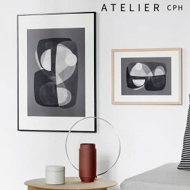 ATELIER CPH ポスター 北欧 A3 アトリエシーピーエイチ 【送料無料〜】デンマーク コペンハー Abstract construction The poster club モダン シンプル カフェ モノクロ アートプリント おしゃれ インテリア