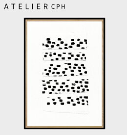 【 ATELIER CPH 】アトリエシーピーエイチ デンマーク コペンハーゲン circles no.17 17 モダン シンプル カフェ モノクロ ポスター アートプリント A3 おしゃれ インテリア 北欧
