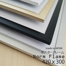 【ブラック】【送料無料※地域限定】Norm flame ノームフレーム アートプリント ポスター フレーム 額 額縁 写真 297x420 A3cm インテリア アルミ アルミニウム 日本製 A3 北欧 おしゃれ