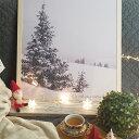 【50x70】【A3/42x30】 ポスター 北欧 Design Rail 【ホリーナイト】 holy night フレーム クリスマス 冬 雪景色 お…