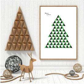 【送料無料】【70x50】【A3/42x30】 ポスター 北欧 Troom 【mosaic green】 フレーム クリスマス 冬 雪景色 おしゃれ モノクロ インテリア モノトーン