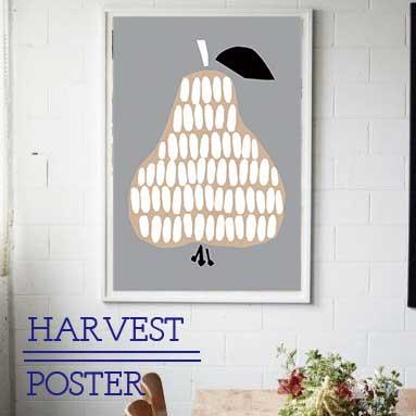 【 洋なし 】 ポスター フレーム 北欧 おしゃれ インテリア 【ダーリンクレメンタイン】 アートプリント 名作 カフェ風 ノルウェー ハーベスト 洋ナシ harvest darling clementine PEAR HARVEST 50cmx70cm