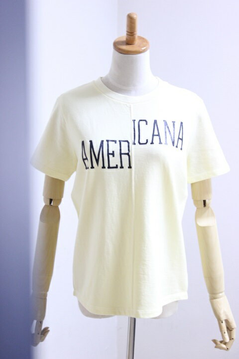 【SALE】Americana(アメリカーナ)ピグメント染め リメイク風Tシャツ 2color【Lady's】