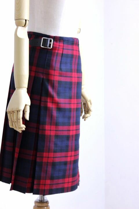 【WINTER SALE】O'NEIL of DUBLIN(オニールオブダブリン) WORSTED WOOL 100% ラップスカート #124/60cm TARTAN 4color 2017'A/W【Lady's】