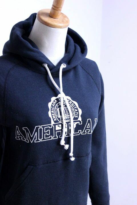 """Americana(アメリカーナ)HOOD PRINT SWEAT """"AMERICANA紋章"""" 2color 2017'S/S【Lady's】"""