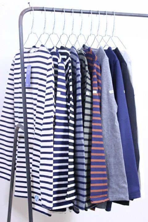 【WINTER SALE】Orcival(オーシバル オーチバル)cotton lourd #B211 定番バスクシャツ Stripe/solid 10color 2017'A/W 【UNISEX】