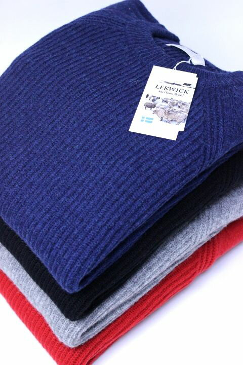 【WINTER SALE 20%OFF】soglia (ソリア)LERWICK Sweater クルーネックニット/セーター 4color 2017'A/W【Men's】