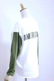 "【SALE30%OFF】Americana(アメリカーナ)丸胴 L/S BASE BALL TEE ""A"" 3color【Lady's】"