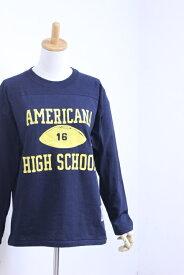 "【SALE30%OFF】Americana(アメリカーナ)丸胴 L/S FOOT BALL TEE ""HIGH SCHOOL"" 3color【Lady's】"