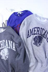 "【SALE 30%OFF】Americana(アメリカーナ)RAGLAN CREW NECK SWEAT ""AMERICANA INDIAN"" 4color 2018'A/W【Lady's】"