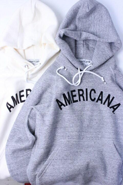"""【別注暖かい裏起毛】Americana(アメリカーナ)HOOD PRINT SWEAT """"AMERICANA"""" 2color 2018'F/W ROOMS別注【Lady's】"""