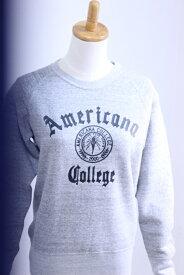 """Americana(アメリカーナ)スーピマ裏毛 RAGLAN CREW SWEAT """"College"""" BRF-286 2019'A/W【Lady's】"""