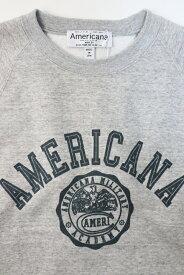 "ROOMS別注【2021春】Americana(アメリカーナ)コーマ バルキー裏毛 RAGLAN CREW SWEAT ""紋章"" BRF-286【Lady's】"