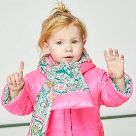 SALE セール【50%OFF】マフラーと一体型付フード付 リバーシブル ブルゾン 2019秋冬 オイリリー インポート ヨーロッパ老舗 イギリス人気 キッズ ベビー 総柄 ピンク グリーン 派手 目立つ 軽い 温かい すっぽり OILILY オイリリー