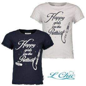 Happy Girl Tシャツ ホワイト ネイビー104/116/128/140/152サイズ