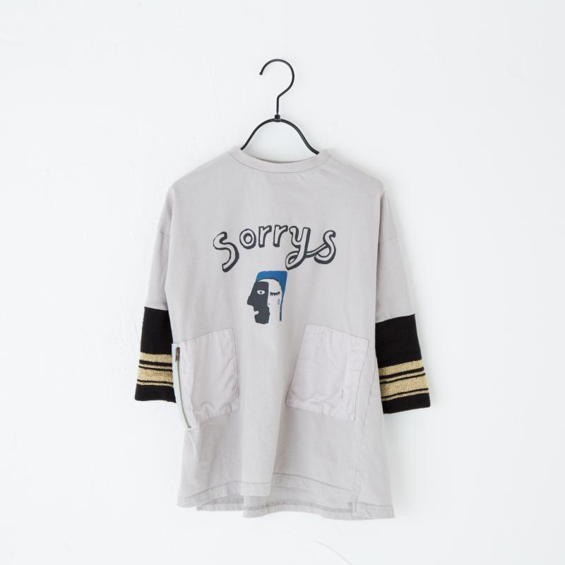 【SALE50%OFF!!】Geewhiz(ジーウィズ) sorrys twoface/BIGTシャツ【gray】 【GW81BTL08】【80-140cm】