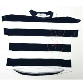 Geewhiz(ジーウィズ)ピース ボーダー半袖Tシャツ【navy×white】【gw71ats181】【80-140cm】