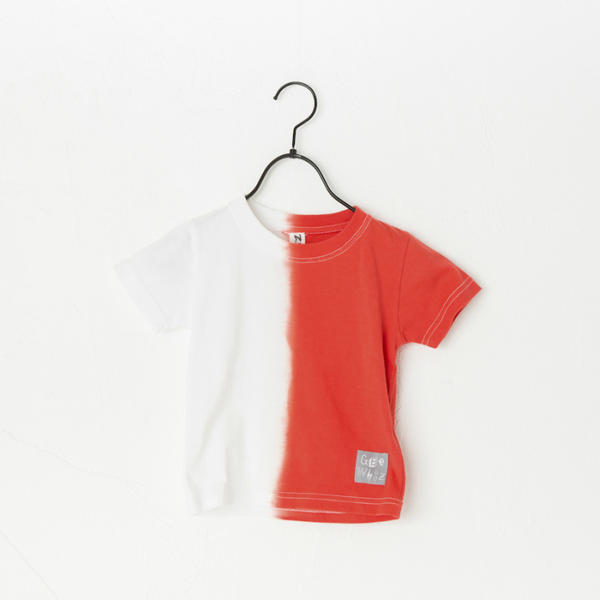 Geewhiz(ジーウィズ) 赤と黒/半袖Tシャツ【red】 [GW81ATS06]【80-140cm】