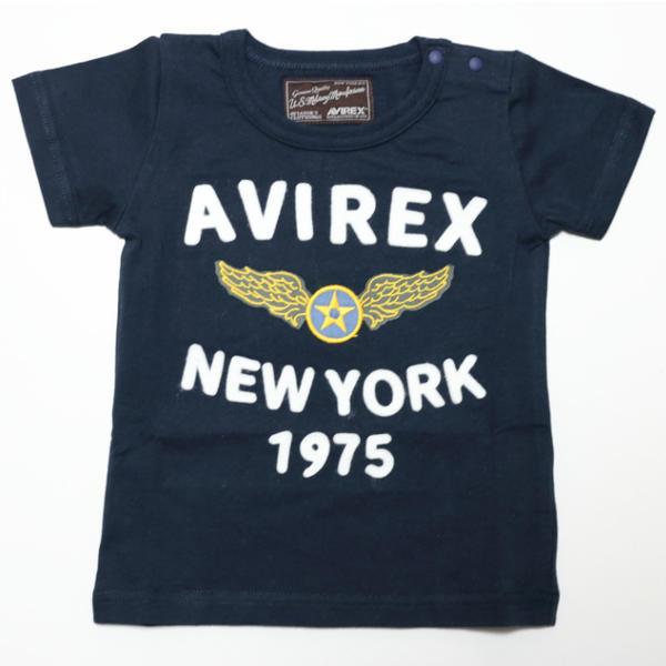 AVIREX (アヴィレックス) フェルト刺繍Tシャツ【コン】 [9104806]【80-140cm】