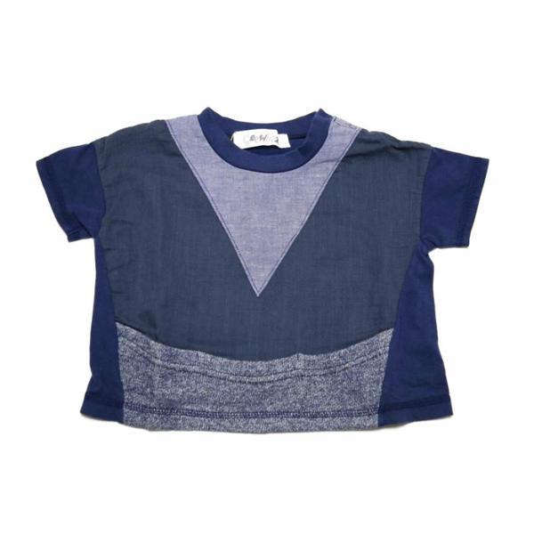 Geewhiz(ジーウィズ)キラキラのお家 ゆるポケットTシャツ【navy】【gw71ats25】【80-140cm】