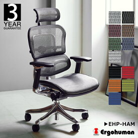 ERGOHUMAN -エルゴヒューマン プロ チェア ヘッドレスト付き メッシュ- ゲーミングチェア [EHP-HAM] 送料無料 オフィスチェア ゲーミングチェア おすすめ おしゃれ■関家具