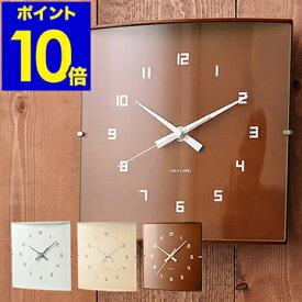 【特典付き】時計/壁掛け時計/壁かけ時計/壁掛時計/掛け時計/掛時計/かけ時計/壁掛け/壁掛/壁かけ/時計/とけい/クロック/デザイン/おしゃれ/北欧/ウッド/木製/人気/ギフト[ イデアレーベル/ウッドガラスクロックS ]