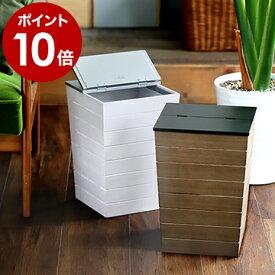 ゴミ箱 ふた付き ウッド 木製 おしゃれ【特典付き】ごみ箱 15リットル 15L ダストボックス インテリア リビング くずかご 袋 見えない 縦型 アンティーク ホワイト ブラウン ミッドセンチュリー かっこいい ギフト【ポイント10倍 送料無料】[ Wood Dust BOX ]