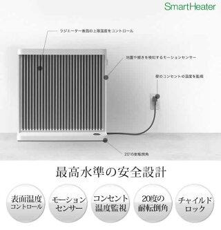 バルミューダスマートヒーターWi-Fi対応パネルヒーターオイルレスヒーターヒーターESH-1000UABALMUDASmartHeaterおしゃれ遠赤外線暖房家電ESH-1000UA-SW[BALMUDAスマートヒーターWi-Fi対応]